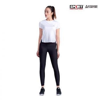 Áo T shirt AM running nữ trắng TWS02